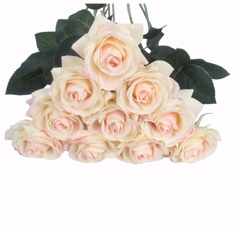 JAROWN Artificial Real Touch Hand Feel Rose Flowers For Valentine`s Day Preparation Wedding Decoration Home Decor (24)