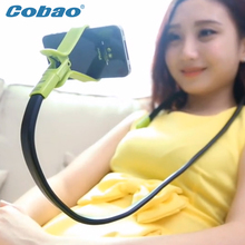 360 Rotating Universal Lazy Mobile Phone Clip Holder Selfie Stick Desk Bed Stand For iPhone 5S 6 Plus 5.5 Samsung Andriod