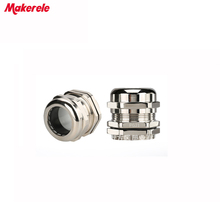 10pcs/lots PG21 Nickel Brass Metal Waterproof Cable Glands Joints IP68 cable connector for 13-18mm cable стоимость