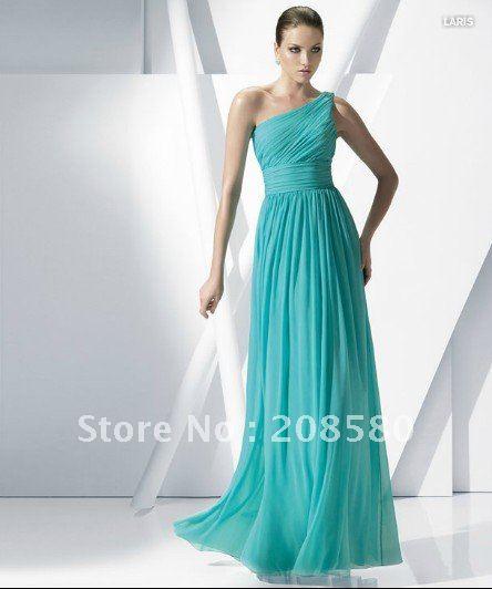Long One Shoulder Bridesmaid Dresses - Ocodea.com