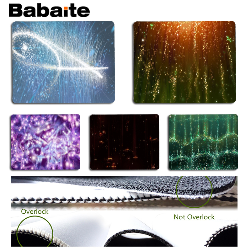 Babaite New Design Beautiful light spot Beautiful Anime Mouse Mat Size for 18x22cm 25x29cm Rubber Mousemats