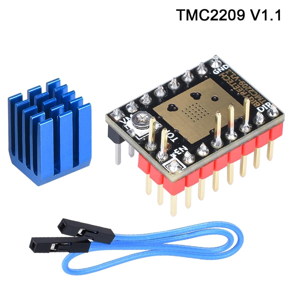 Pré venda BIGTREETECH TMC2209 UART TMC2208 Stepper Motor Driver Stepsticks Mudo VS TMC2130 TMC2100 Para SKR V1.3 Pro MotherBoard