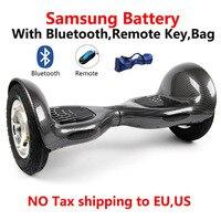 2 колеса самобалансирующийся электрический скутер Bluetooth + дистанционный ключ + сумка Ховерборд Unicycle10 inchскейтборд стоячий гироскутер 16A
