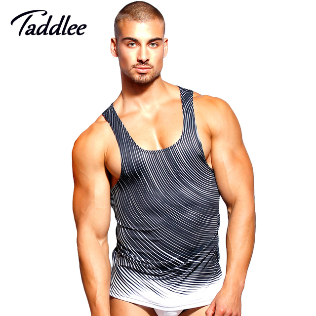 Taddlee Marca Top Homens Tanque Moda Casual Top Tees Camisas Camiseta Sem Mangas Sinlets Stringer Vest Gasp Fitness Tanque 2017
