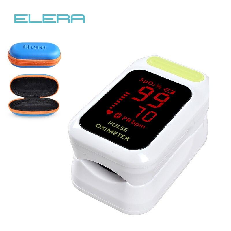 ELERA Neue Finger-pulsoximeter Mit Fall Blut Sauerstoff Sättigung SpO2 PR LED CE oximetro de dedo pulsoximeter