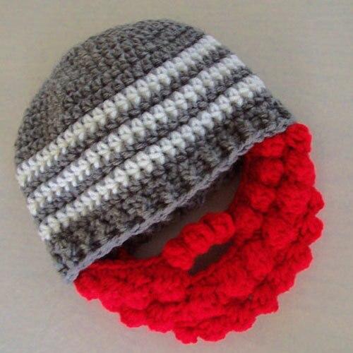 33b4f6de48c Free Shipping Baby Boy Beanie Hand Knitted Crochet Newborn Beard Hat ...