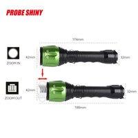 G700 X800 CREE XML T6 LED Zoom Tactical Military Flashlight Super Torch Set 18650 Battery 3200mAh 3.7V Strobe Solar UK Plug