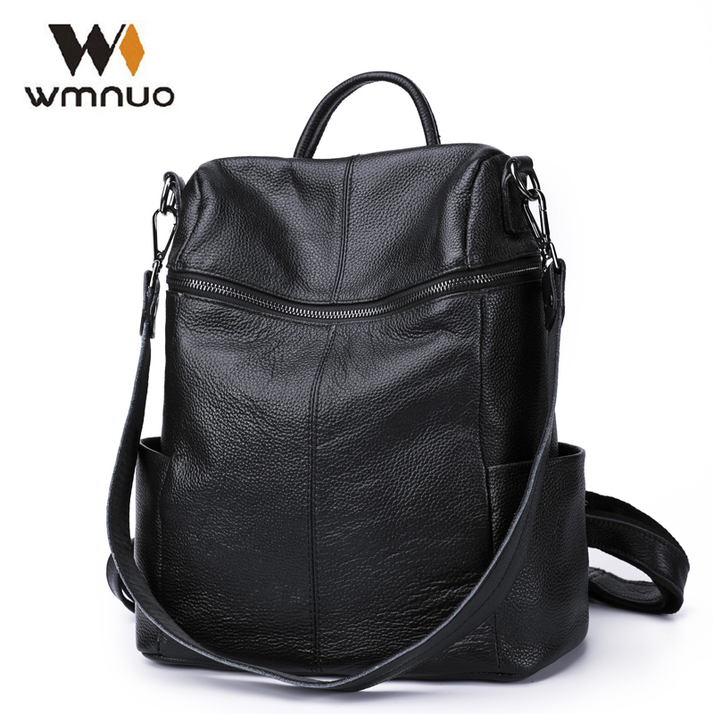 Wmnuo Women Backpack Cow Leather For Girls School Bags Fashion Shoulder Bag Mochila Designer Travel Bag Casual Computer Backpack wmnuo women backpack cow leather for girls school bags fashion shoulder bag mochila designer travel bag casual computer backpack
