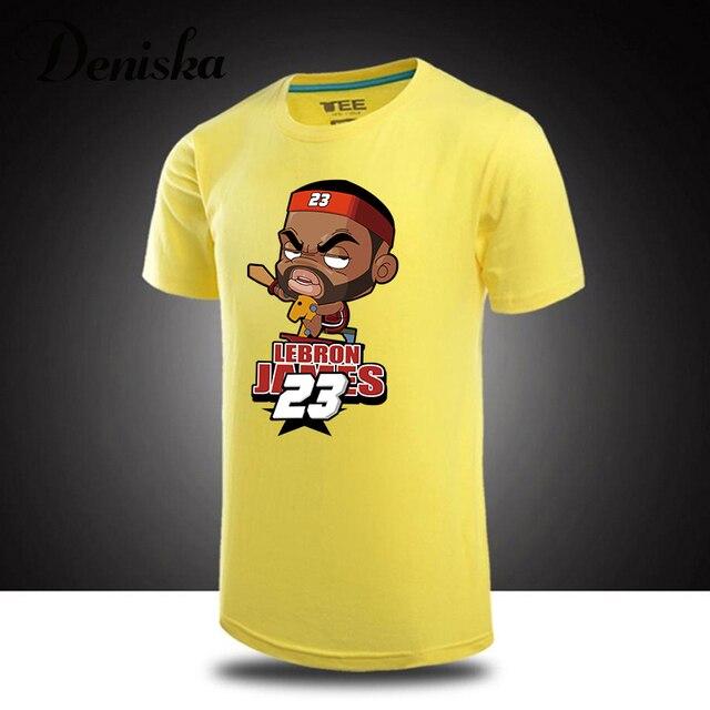 Free shipping sprot man t shirt Cartoon shirt LeBron James t-shirts t shirt  jersey loose best men S-3XL 417c9216a98e