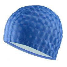 2021 1pc Waterproof Swimming Caps Protect Ears Grids Fashion Unisex Large Size Quick Dry PU Coating Waterproof Hot Sale