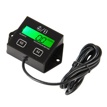 Backlight inductive digital LCD Hour meter tachometer for atv motorcycle generator outboard motocross UTV lawn mower Waterproof digital backlight hour meter hourmeter tachometer for motocross jet ski atv snowmobile mower outboard chainsaw forklift truck