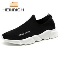 HEINRICH Hot Sale New Brand Shoes Men 2018 Casual Trending Canvas Top Fashion Sneakers Breathable Black Shoes Calzado Hombre