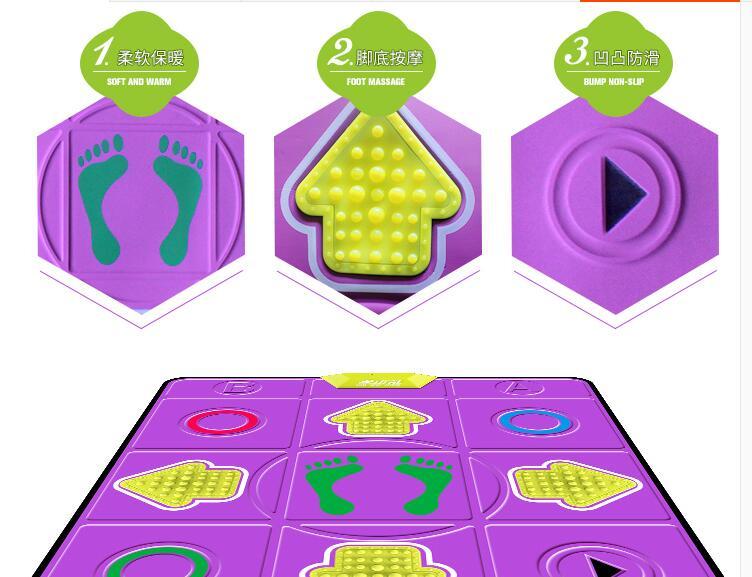 цена  music toy Relax dance pad Non-Slip sport toy Step play Game fitness Mat massage blanket for PC TV leisure recreation 83*93CM  онлайн в 2017 году
