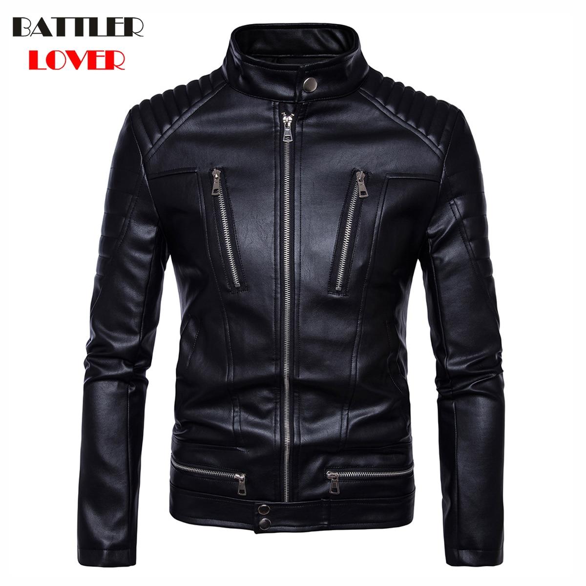 2020 Fashion Leather Jackets Men Bomber Winter Motorcycle Jacket Steampunk Man Leather Windbreaker Moto Biker Coat Hombre New
