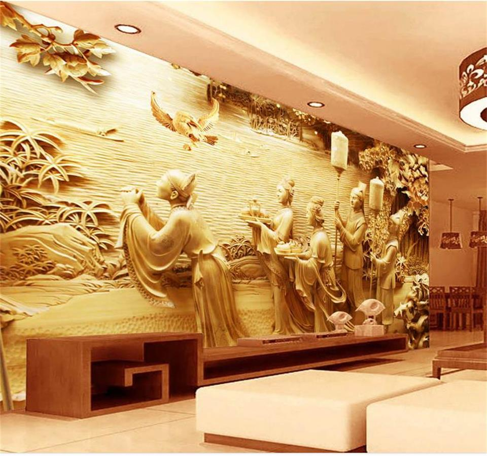 Colorful Wall Decor Wood Carving Model - The Wall Art Decorations ...