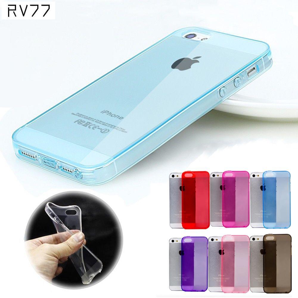 Ультра тонкий Карамельный Цвет Crystal Clear Прозрачный Мягкие силиконовые ТПУ кожного покрова случае протектор с pluggy для Apple IPhone 5 5S