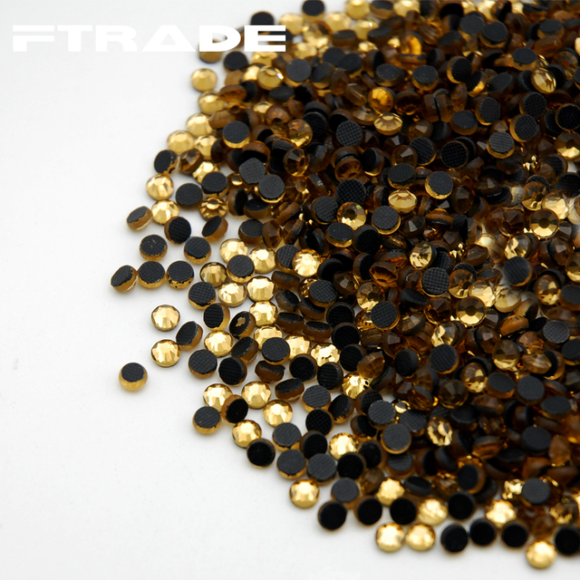 Super Shine DMC Hot Fix SS6-SS30 Light Colorado Topaz Rhinestones 1440pcs  pack Best Quality Use for T shirt DIY Iron On Stones e04c8e290846