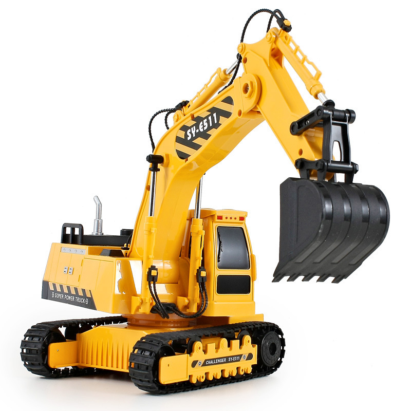 large remote control excavator car rc engineering truck excavator child best gift educational toy digging machine vehicle toy children s electric educational remote control excavator model 2 4g remote control rc construction vehicle engineering truck toy