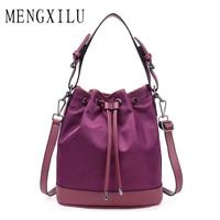 MENGXILU Brand Bucket High Quality High Quality Women Messenger Bags Oxford String Shoulder Bags Women Crossbody