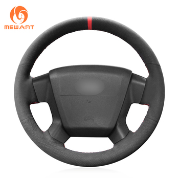 MEWANT Black Suede Hand Sew Anti-slip Car Steering Wheel Cover for Jeep Compass 2006-2010 Old Patriot 2007-2010