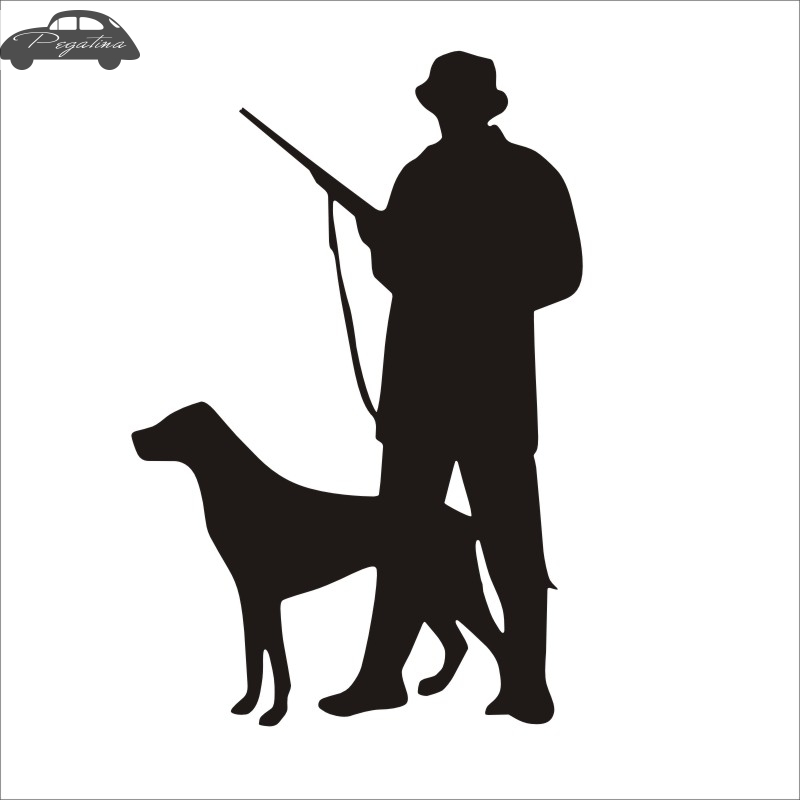 Pegatina Hunt Dog Decal Hunting Club Perro Sticker Hollow