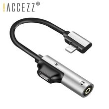 !ACCEZZ 3.5mm Earphone Connector For iphone X 8 7 Plus 2 in 1 Lighting AUX Splitter Cable Audio Charger Adapter