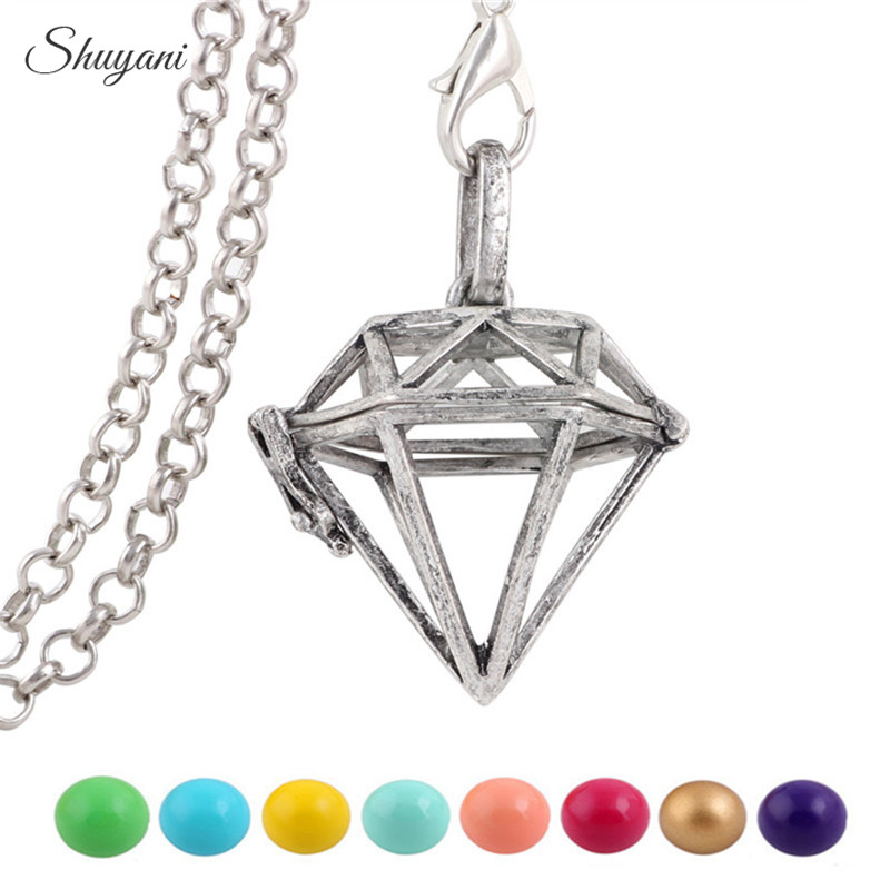 e1ca7a2248a1d 10PCS Retro Silver Plated Harmony Ball Angel Bola Caller Pendant for  Pregnant Women Openable Geometric Locket Pendant Jewelry
