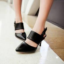 2017 nowych moda Sapato Feminino sandały gladiatorki kobiety duży rozmiar 34 47 sandały damskie buty damskie szpilki kobiety pompy 3 31