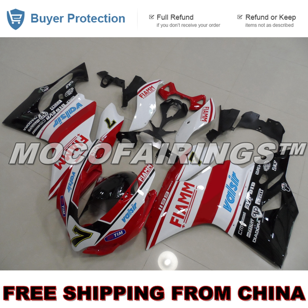 Aftermarket ABS Pre Drilled Holes 100% Fitment Guarantee Fairings Kits For Ducati 1199 899 Panigale Motorcycle Fairing Kit Cover