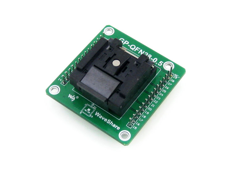 GP-QFN28-0.5-A # QFN-28(36)B-0.5-02 QFN28 MLF28 Enplas IC Test Socket Programming Adapter 0.5mm Pitch with PCB jqx 62f 120a coil high power relay ac 220v