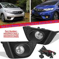 12V H11 Fog Light Driving Lamp For Honda Fit 2015 2016 2017 With Bulb(US Model)Switch Foglight Fog Lamp Front Bumper Halogen