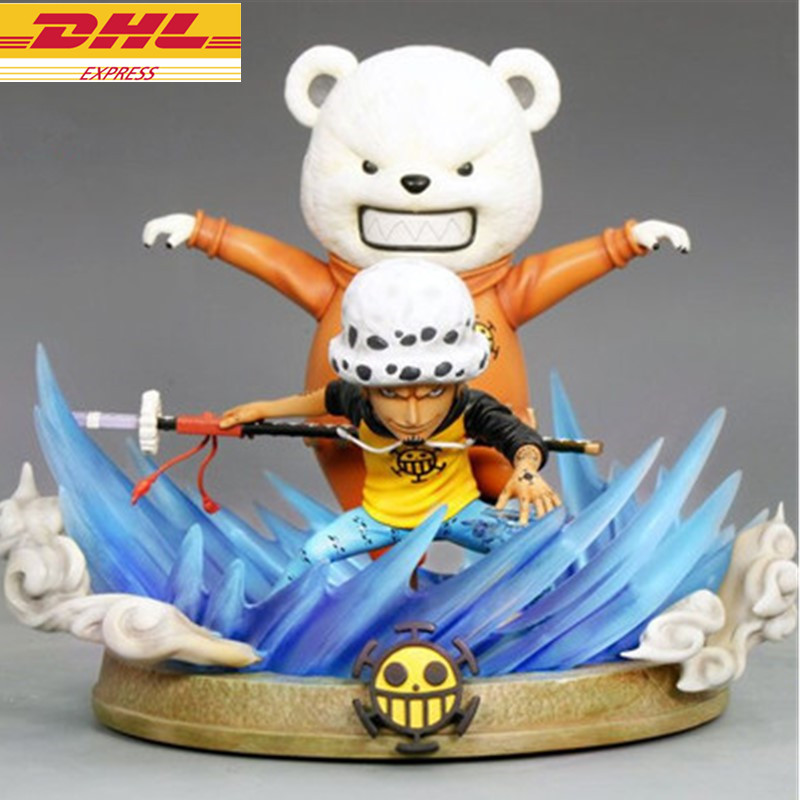 ONE PIECE Statue The Straw Hat Pirates Trafalgar Law And Bepo Trafalgar D Water Law GK Action Figure Collectible Model Toy D716 toaks pot 1350 ultralight titanium 1350ml pot with bail handle outdoor camping tableware
