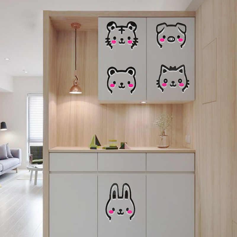 Милый поросенок Китти Тигр Кролик Медведь Дизайн Акриловые наклейки на стену DIY