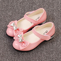 Toddlers Girls Princess Shoes 2017 New Crystal Kids Party Shoes Ankle Strap Flower Girl Dress Shoes