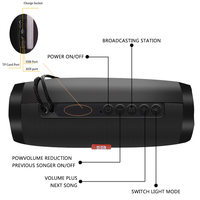 Wireless Speaker Bluetooth-compatible Speaker Microlab Portable Speaker Powerful High Outdoor Bass TF FM Radio with LED Light 2