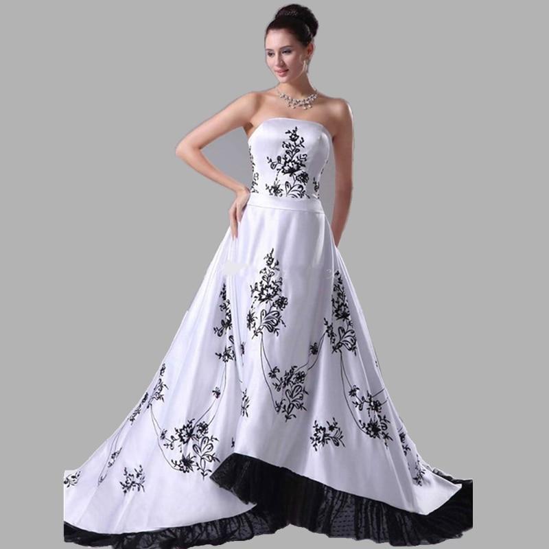 vestidos de novia bordado negro – vestidos de boda