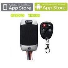 Banda cuádruple GPS Vehículo Tracker Coban GPS 303G Con Software para PC y teléfonos Android y Iphone app Real-tiempo de Seguimiento