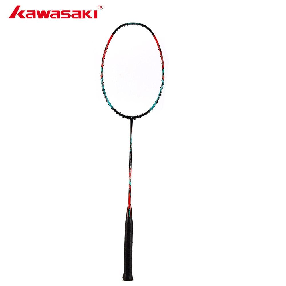 Kawasaki Badminton 3U haute rigidité fibre de carbone Tension 666 Ad raquette de Badminton haute Tension G5 raquette de Tennis avec cadeau gratuit