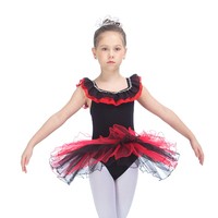 Retail Ready To Ship Yellow Cotton Lycra Girl S Long Sleeve Leotard With Tutus Skirts For