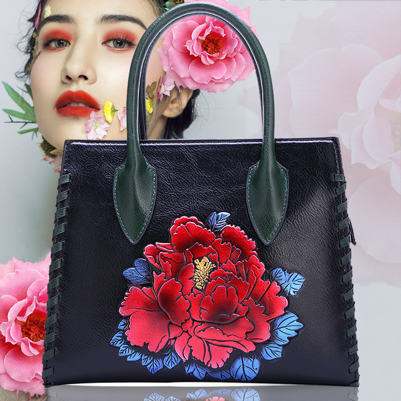 2018 new style womens bag Korean version color bumper flower bag retro simple single shoulder bag casual portable handbag2018 new style womens bag Korean version color bumper flower bag retro simple single shoulder bag casual portable handbag