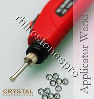 ( FREE 720 Hotfix Flat back Rhinestones ) + Battery Applicator Wand Machine Hot fix Crystal Iron On Art Heater DIY Tool