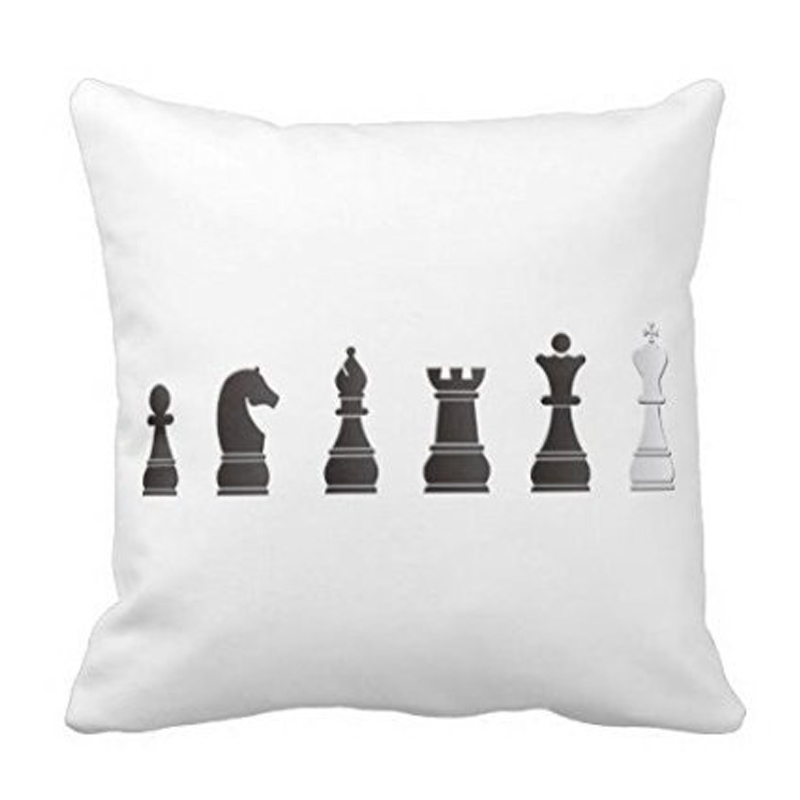 Babaite Luxury Print Black One White Chess Pieces International Square Throw Pillowcase Zippered Pillow Cover Twin Sides In Case From Home