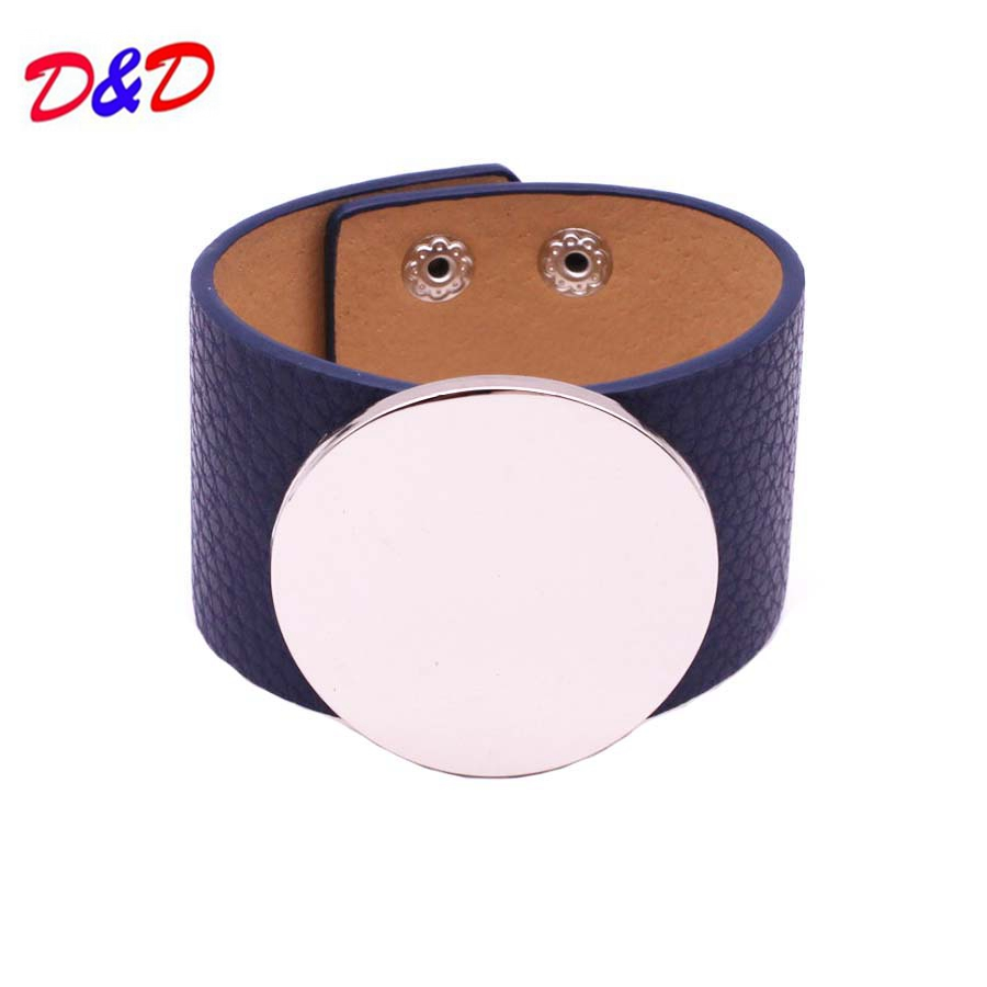 Pulseira Masculina Real Round Bangles 2017 New Hand Fashion Leather Bracelet Simple All Match Ms Word Wide Women Wrap Wristband