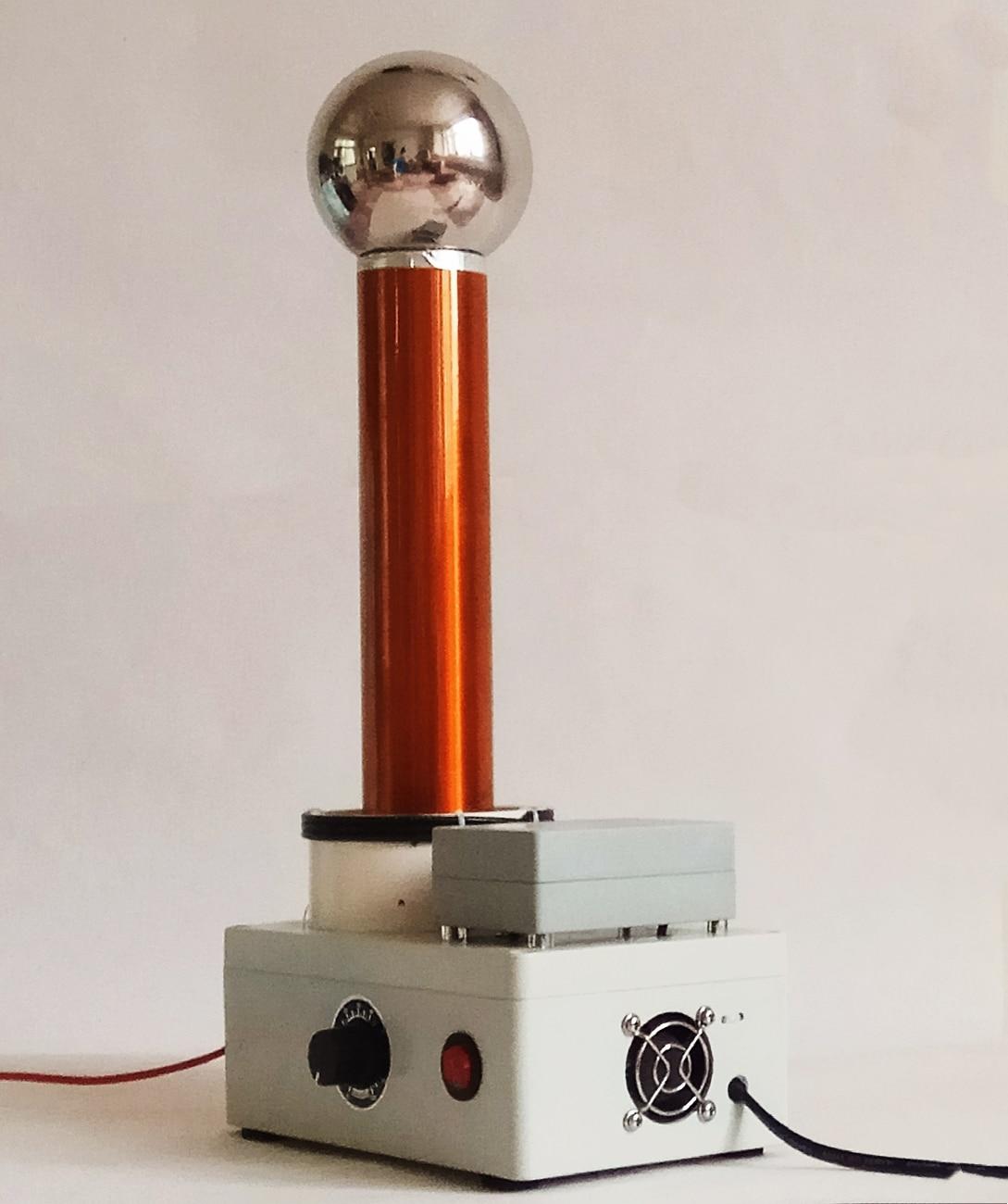 Démonstration du principe de Transmission sans fil AC haute fréquence du simulateur de foudre d'étincelle de bobine Tesla - 4