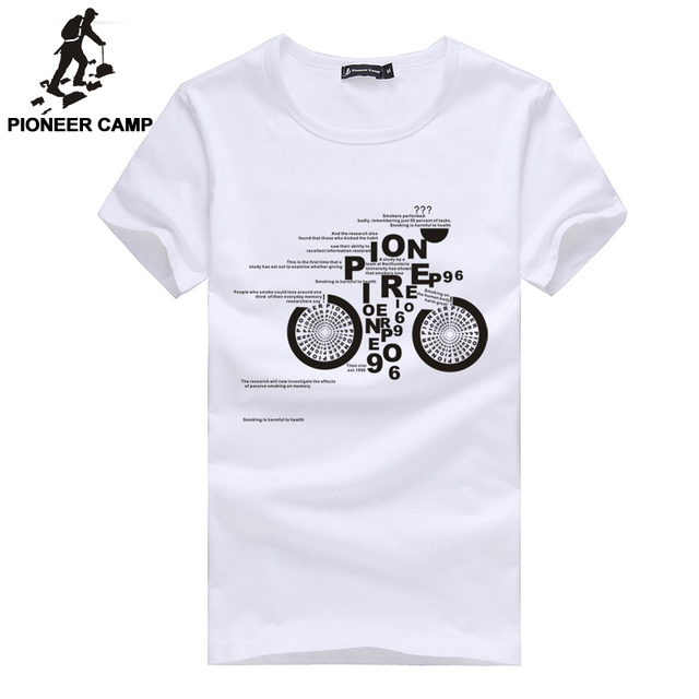 Pioneer Camp Men T Shirt New 2017 Cotton Simple Print: Pioneer Camp 2018 T Shirt Men Cotton Summer White Black O