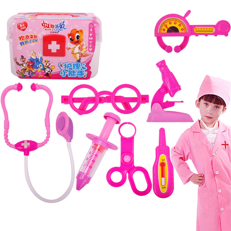 Children Doctor Role Play Toys Set Simulation Hospital Kids Pretend Roleplay Medical Kit Classic Toy Gift BM88