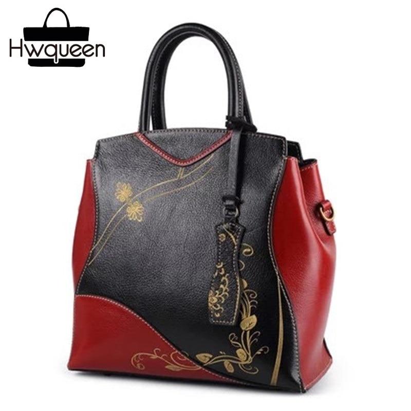 Chinese Style Cheongsam Designer Genuine Cow Leather Vintage Women's Black Red Wedding Purse Female Handbag Ladies Shoulder Bag все цены