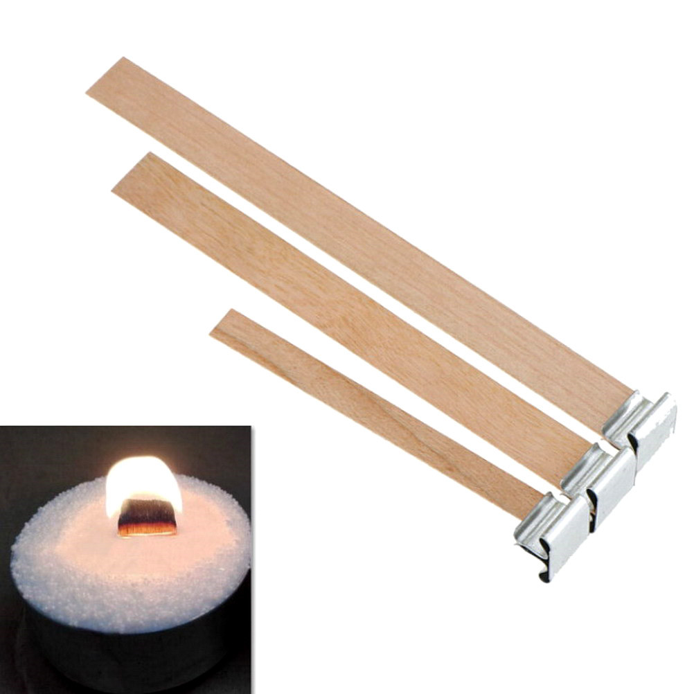 Wooden Candle Wick DIY Candle Making Supplies Candle Core  Environmental 10pcs