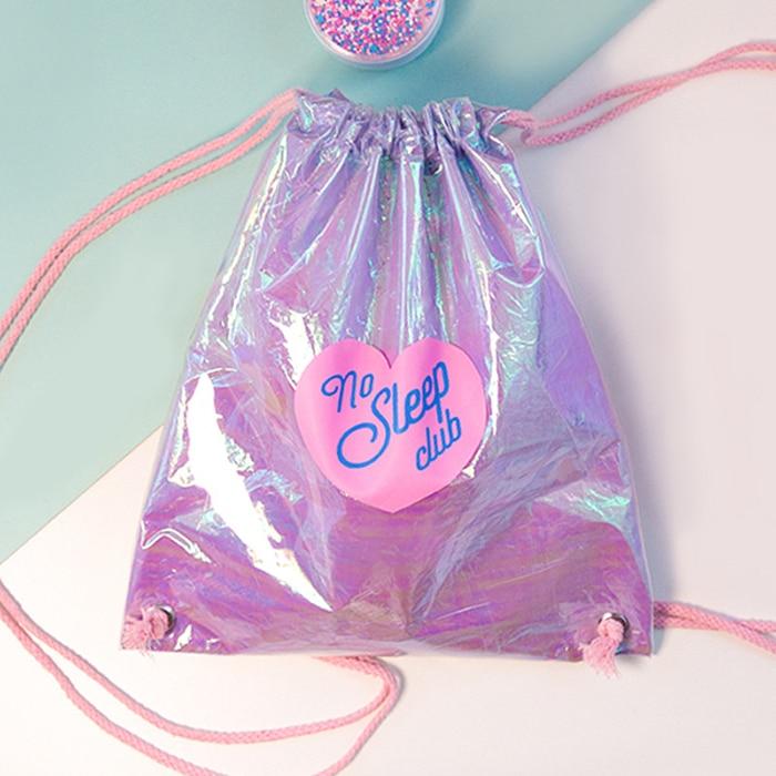Moda pvc drawstring bags para as mulheres