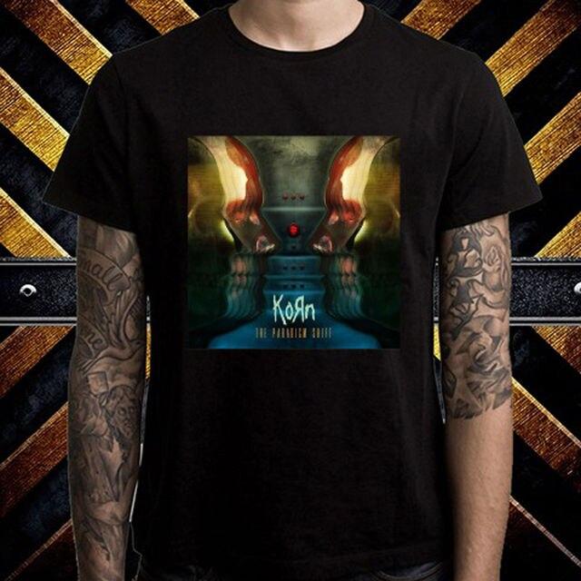 a5ebcbb52cd32f Mens Graphic Tees O-Neck New Style Short Sleeve Mens New Korn The Paradigm  Shift Album Metal Band Tee Shirt